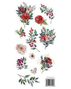 Papir za rezanje A Christmas Garland - 30,5x15cm - 250g