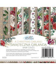 Set dvostranskih papirjev - A Christmas Garland - 15x15cm - 24 listov - 250g