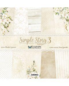 Set dvostranskih papirjev - Simple Story 3 Begie - 30,5x30,5cm - 5 listov + naslovnica - 250g