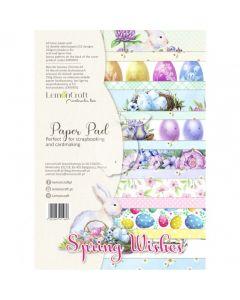 Set obojestranskih papirjev - Spring Wishes - 21x29cm - 16 listov - 250g