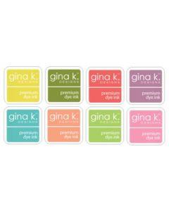 Set 8-ih barvnih blazinic - INK CUBE - SPRING - Gina K Designs