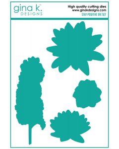 Rezalna šablona - STAY POSITIVE - Gina K Designs