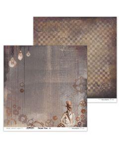 Dvostranski papir - Steam Time 04 - 30,5x30,5cm - 250g - Lexi Design