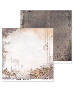Dvostranski papir - Steam Time 06 - 30,5x30,5cm - 250g - Lexi Design
