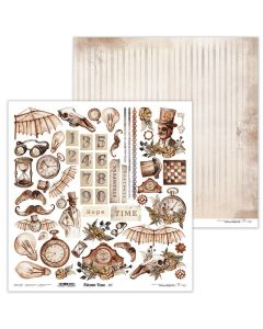 Dvostranski papir - Steam Time 07 - 30,5x30,5cm - 250g - Lexi Design