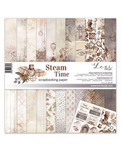 Set dvostranskih papirjev - Steam Time - 30,5x30,5cm - 250g - 11 listov+bonus list - Lexi Design