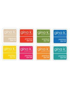 Set 8-ih barvnih blazinic - INK CUBE - SUMMER - Gina K Designs