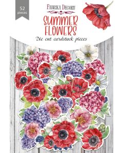 Set izrezov iz papirja - Summer flowers - 52 kos - 250g