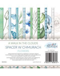 Set dvostranskih papirjev - A walk in the clouds - FLOWERS - 15x15cm - 24 listov - 200g