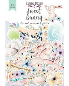 Set izrezov iz papirja - Sweet bunny - 54 kos - 250g