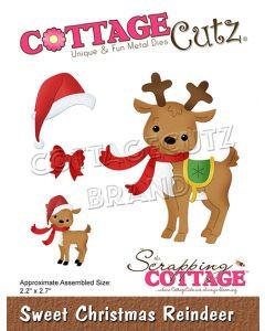 Rezalna šablona CottageCutz Sweet Christmas Reindeer