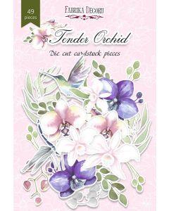Set izrezov iz papirja - Tender Orchid - 49 kos - 250g