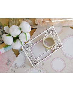 Laserski izrez - okvir z rožami - 12x8,5cm - KPMK