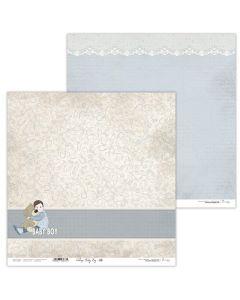 Dvostranski papir - Vintage Baby Boy 08 - 30,5x30,5cm - 250g - Lexi Design