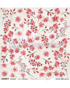 Papir za rezanje -  Vintage garden - Flowers 2 - 30,5x30,5cm - 250g