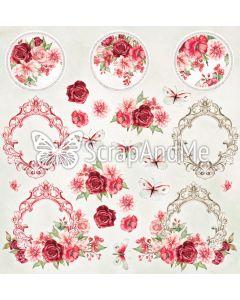Papir za rezanje - Vintage garden - Cover - 30,5x30,5cm - 250g