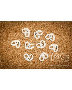 Chipboard izrezki - Poročna prstana