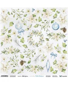 Enostranski papir - White Christmas 30,5 x 30,5 cm