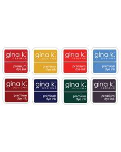 Set 8-ih barvnih blazinic - INK CUBE - WINTER - Gina K Designs