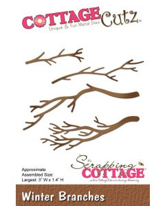 Rezalna šablona CottageCutz Winter Branches