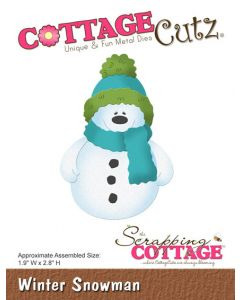 Rezalna šablona CottageCutz Winter Snowman