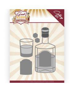 Rezalna šablona - Yvonne Creations - Good old day's - Whiskey - 9,4x12cm