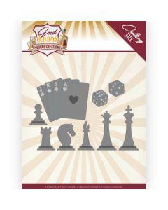 Rezalna šablona - Yvonne Creations - Good old day's - Chess Game - 10,8x6,9cm