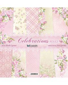 Set dvostranskih papirjev - Celebrations Rouge - 30,5x30,5cm - 5 listov - 250g
