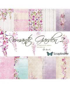 Set obojestranskih papirjev - Romantic Garden part2  30,5 x 30,5 cm